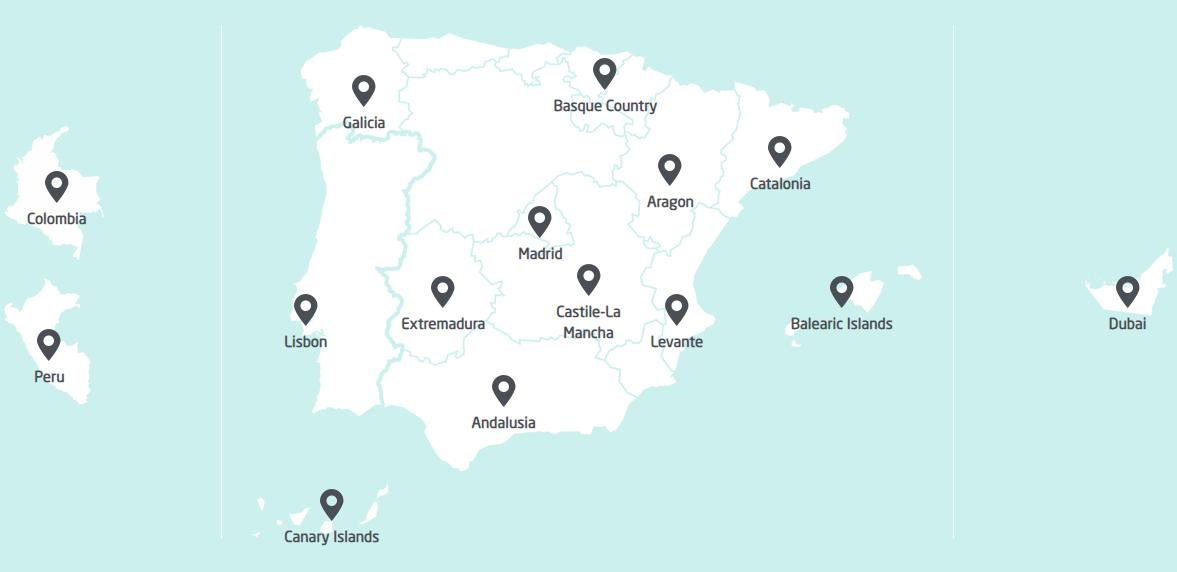 maps clinics quiron